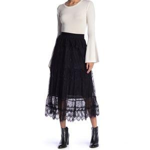 Moon River Lace Midi Skirt